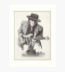 Stevie Ray Vaughan Portrait Art Print