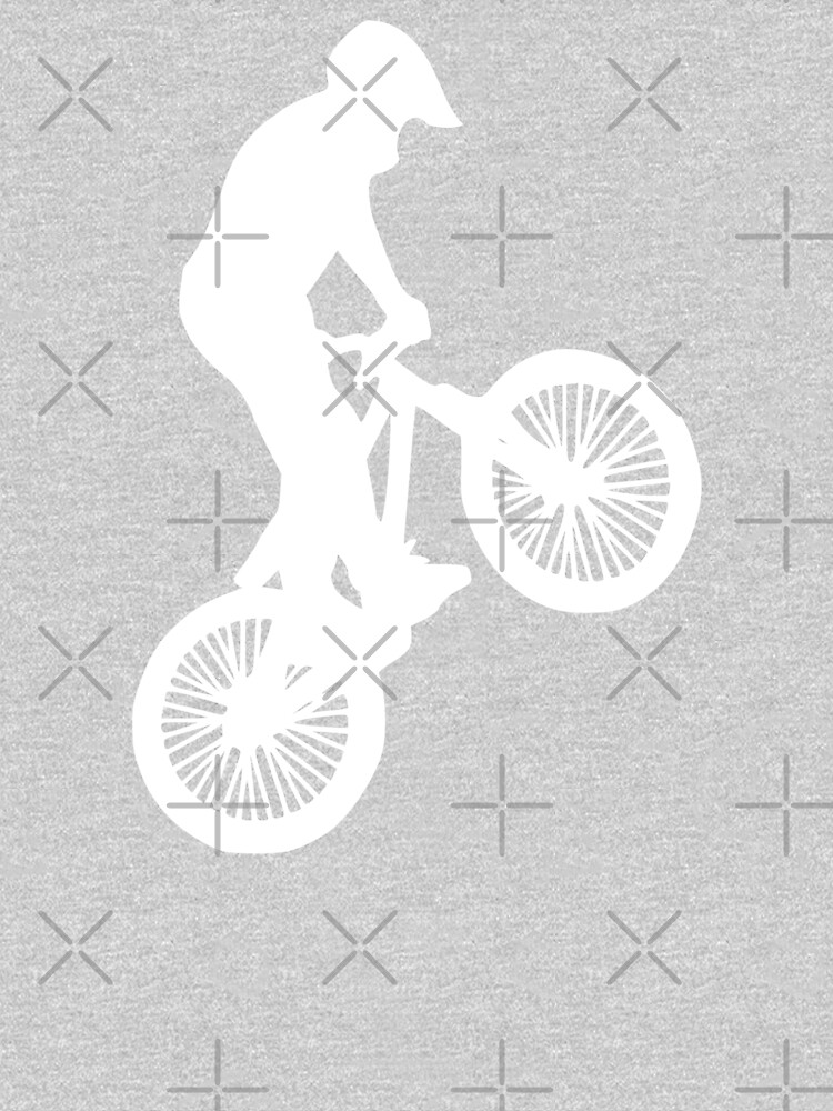 Inspired Biking (White on Black version) by realmatdesign