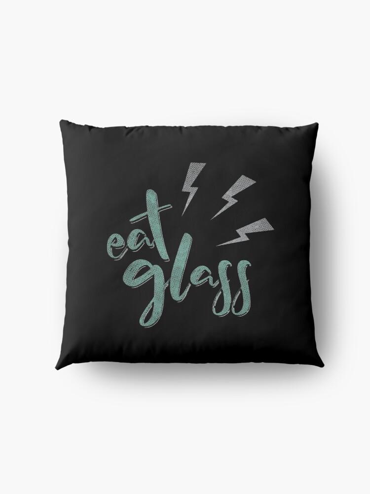 Alternate view of Eat Glass Floor Pillow