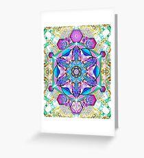 Om-Adjna 'dubstep' mandala Greeting Card