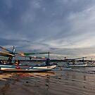 Boats of Jimbaran by Dale Allman