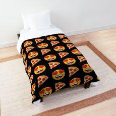 Love Pizza Emoji JoyPixels Funny Pizza Lover Comforter