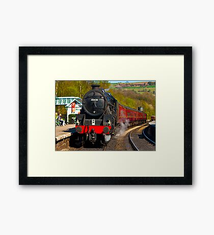 At The Platform - Grosmont Framed Print