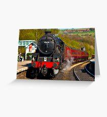 At The Platform - Grosmont Greeting Card