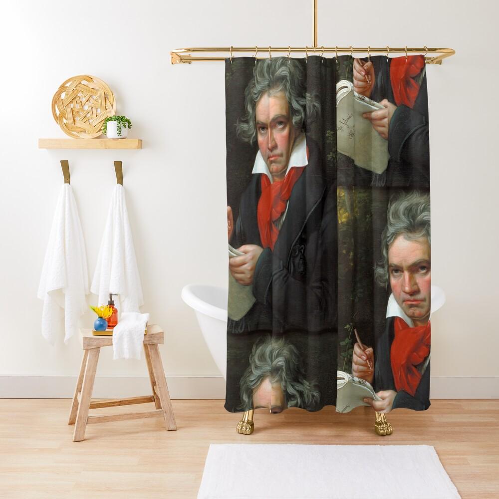 Beethoven Portrait, 1819 Shower Curtain