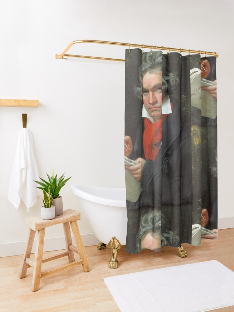 Alternate view of Beethoven Portrait, 1819 Shower Curtain