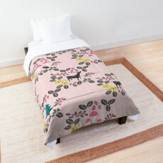 Woodland animals and mushrooms Comforter