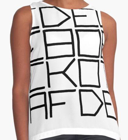 IDEL... (BLACK TEXT) Sleeveless Top