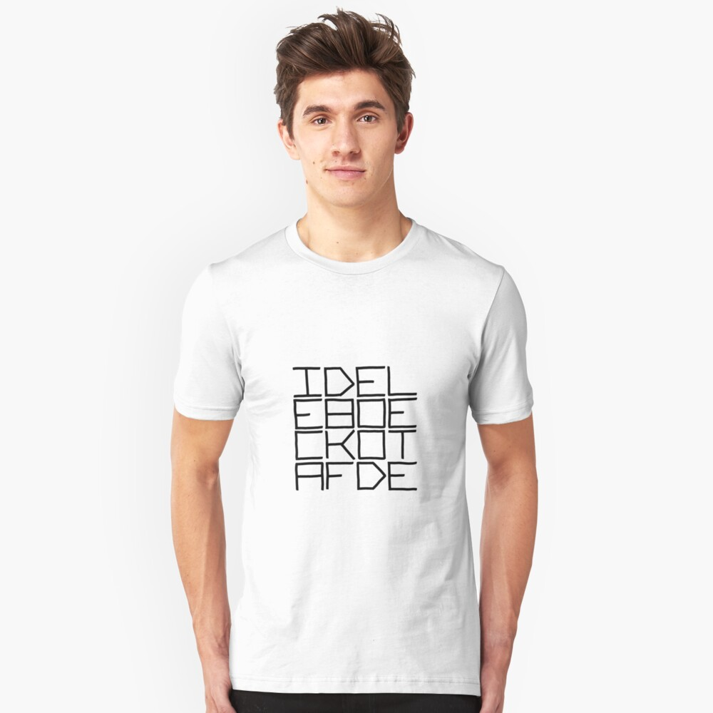 IDEL... (BLACK TEXT) Slim Fit T-Shirt