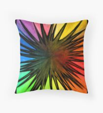 """Rainbow Splat"" Throw Pillow"