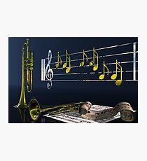 Trumpet Music Photographic Print