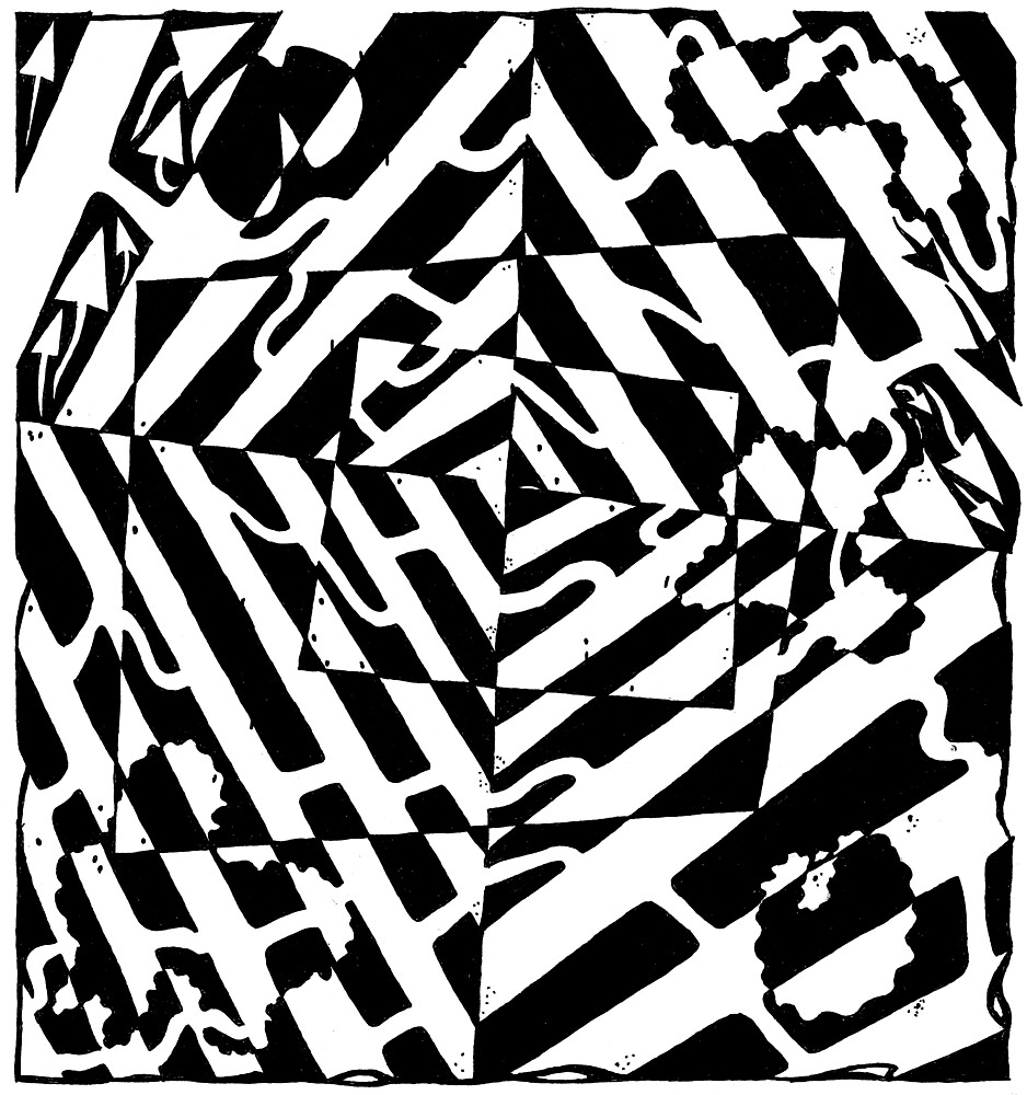 Chaos Maze Optical Illusion by Yonatan Frimer by Yonatan Frimer