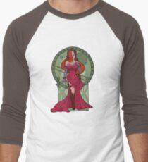 Steampunk Jessica Nouveau Digital T shirt Men's Baseball ¾ T-Shirt