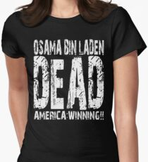 Osama is Dead - Dark Women's Fitted T-Shirt
