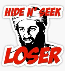 Osama Bin Laden Hide N' Seek Loser Sticker