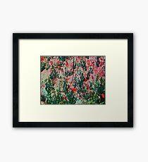 Oriental Brush Work Framed Print