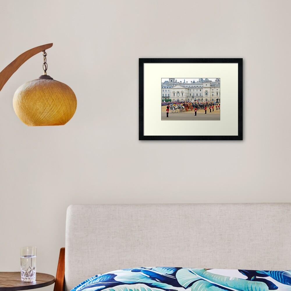 UK, England, London, Horse Guards Parade, Royal Wedding Framed Art Print