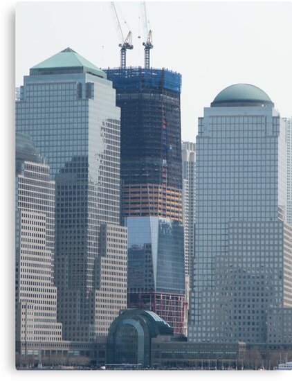 World Trade Center Rises into the New York Skyline by lenspiro