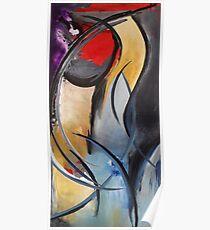 """Femme"" Original acrylic painting Poster"