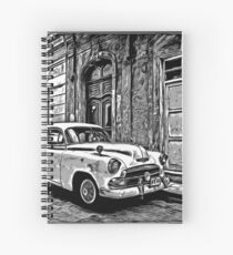 Vintage Car Graphic Novel Style Spiral Notebook