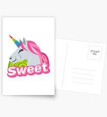 Sweet Unicorn Emoji JoyPixels Cute Sweety Postcards