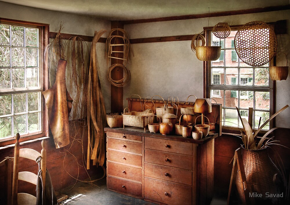 Basket Maker - The basket makers house  by Michael Savad