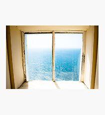 window to the sea Photographic Print