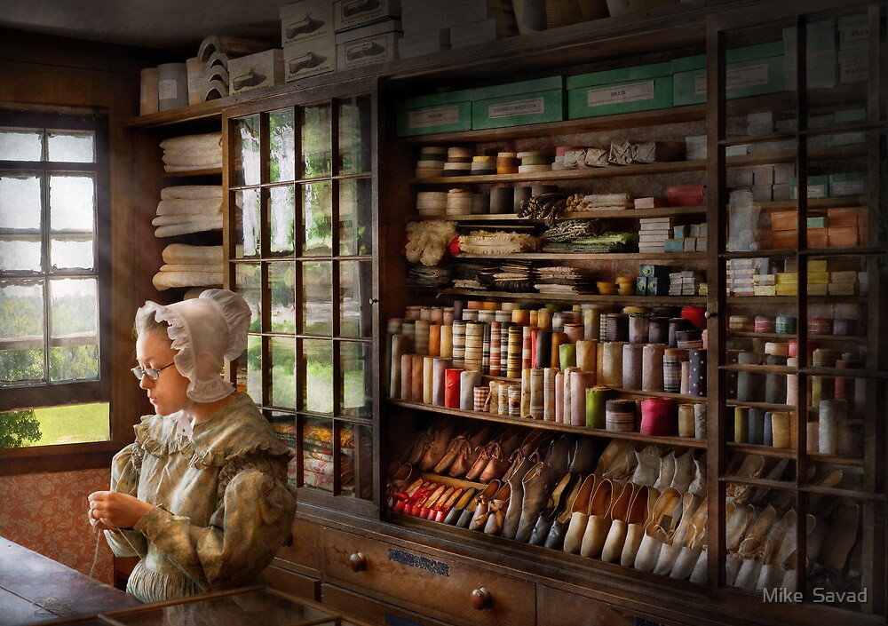Sewing - Minding the store  by Michael Savad