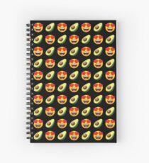 Love Avocado Emoji JoyPixels Funny Avocado Lover Spiral Notebook