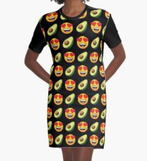 Love Avocado Emoji JoyPixels Funny Avocado Lover Graphic T-Shirt Dress