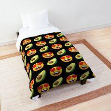 Love Avocado Emoji JoyPixels Funny Avocado Lover Comforter