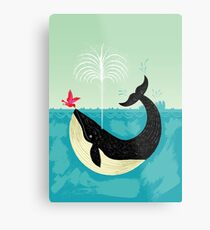 The Bird and The Whale Metal Print