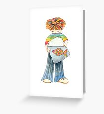 Children with fish Greeting Card