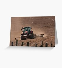 Field preparation Greeting Card