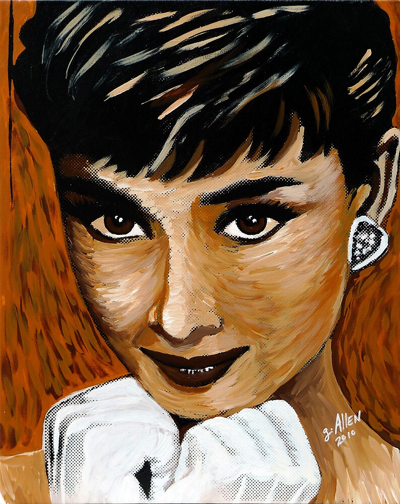 Audrey Hepburn in Brown 002 by Greg Allen