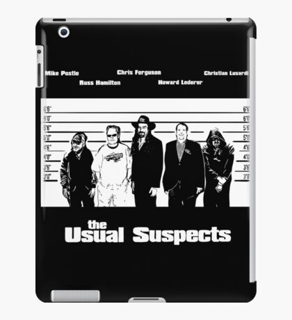 The Usual Poker Suspects iPad Case/Skin