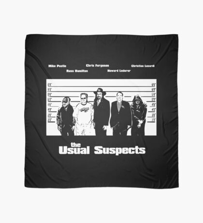 The Usual Poker Suspects Scarf