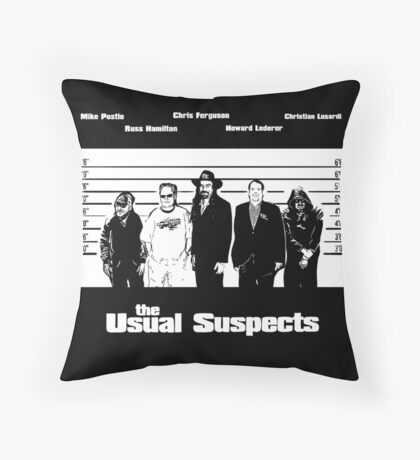 The Usual Poker Suspects Floor Pillow