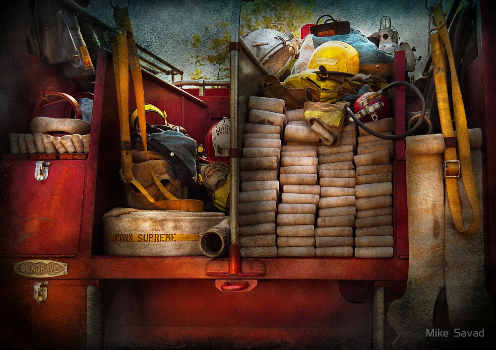 Fireman - Fire equipment  by Michael Savad