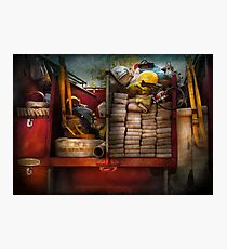 Fireman - Fire equipment  Photographic Print