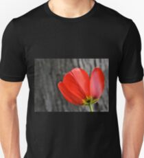 Varigated Red Tulip Petals Unisex T-Shirt