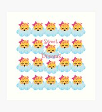 Sweet Dreams Emoji JoyPixels Good Night My Love Art Print