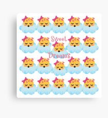 Sweet Dreams Emoji JoyPixels Good Night My Love Canvas Print