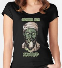 Osama Bin Zombied Women's Fitted Scoop T-Shirt