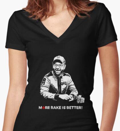More Rake Is Better Fitted V-Neck T-Shirt