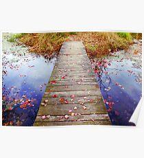 Autumn Walkway Poster