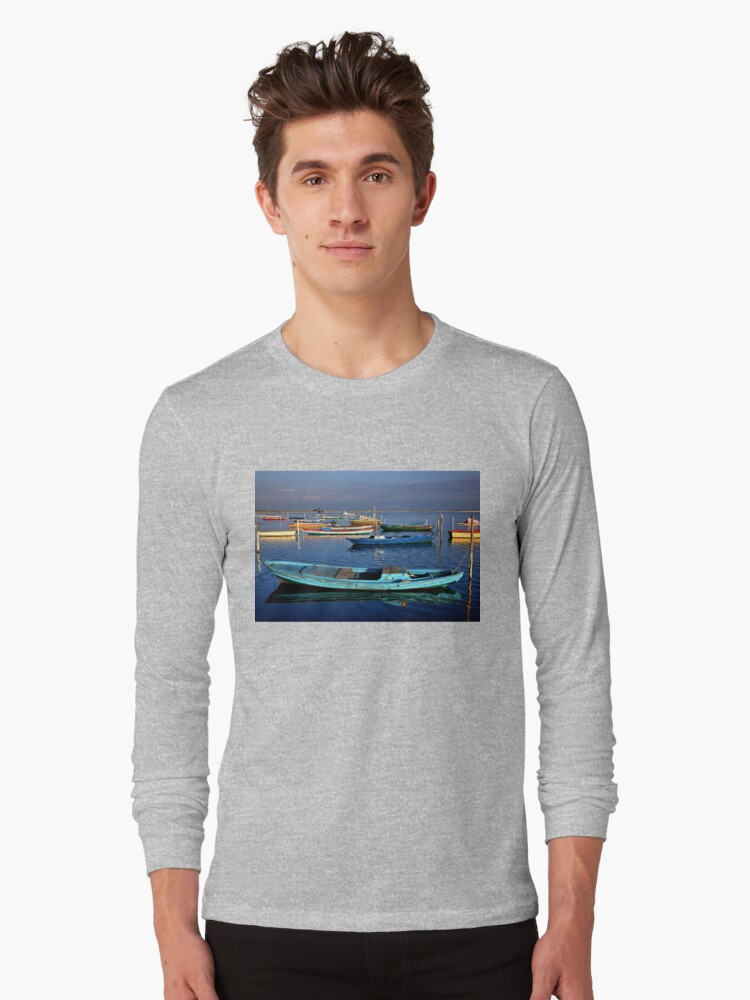 Gaitas in the lagoon of Messolonghi Long Sleeve T-Shirt Front