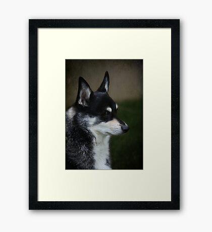 Stitch Portrait Framed Print