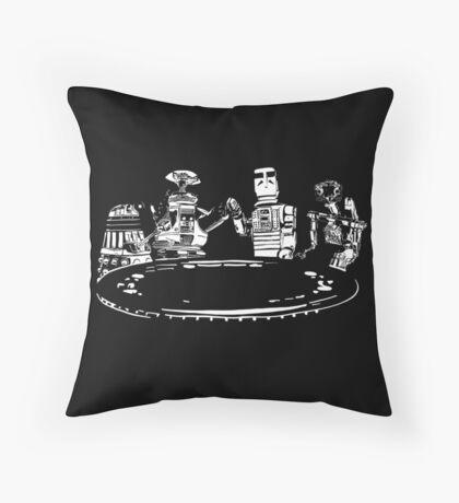 Poker Bots Throw Pillow