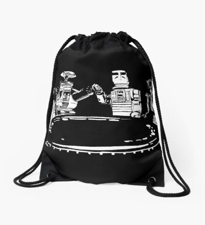 Poker Bots Drawstring Bag